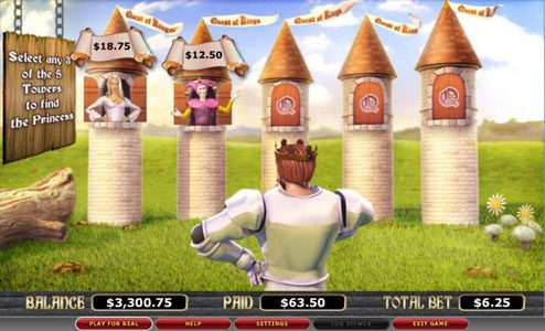 Moon Games featuring the video-Slots Quest of Kings with a maximum payout of 8,000x