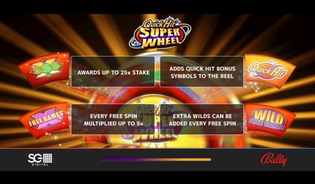 BGO Vegas featuring the Video Slots Quick Hit Super Reel Wild Red with a maximum payout of $250,000
