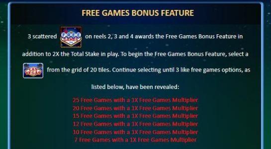Free Games Bonus Feature Rules