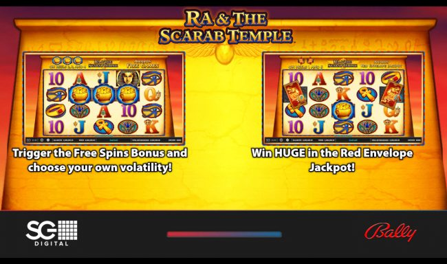Play slots at Leo Vegas: Leo Vegas featuring the Video Slots Ra & The Scarab Temple with a maximum payout of $250,000