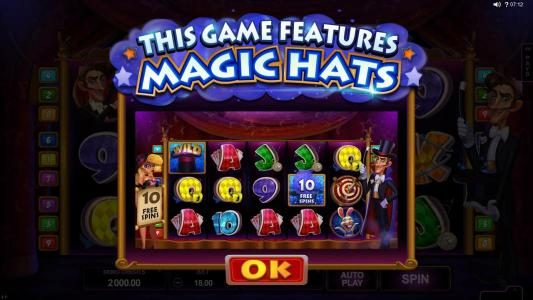 Play slots at Stan James: Stan James featuring the Video Slots Rabbit in the Hat with a maximum payout of $10,000