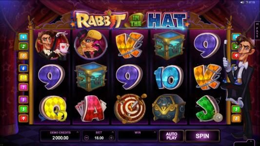 Lucky Nugget featuring the Video Slots Rabbit in the Hat with a maximum payout of $10,000