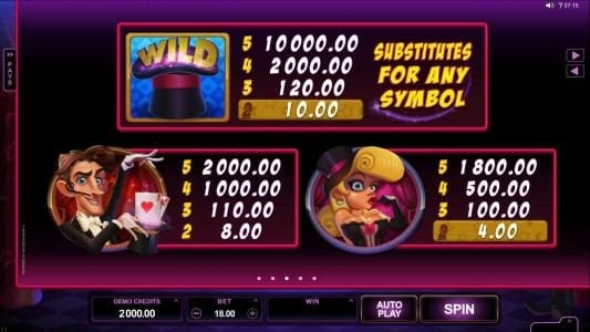 Mega Casino featuring the Video Slots Rabbit in the Hat with a maximum payout of $10,000