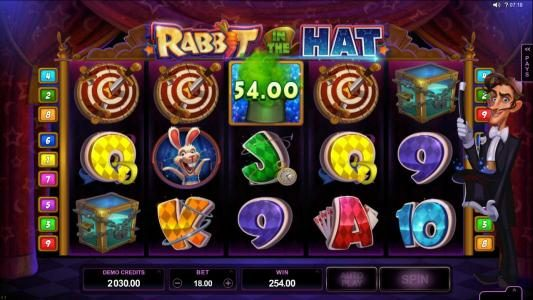 Blackjack Ballroom featuring the Video Slots Rabbit in the Hat with a maximum payout of $10,000