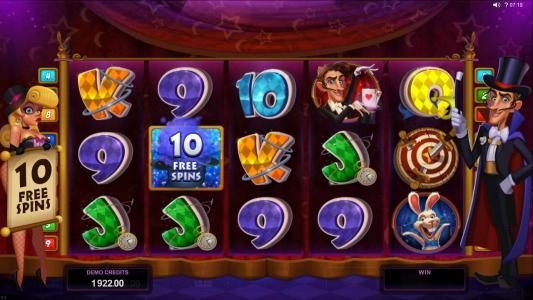 King Neptunes featuring the Video Slots Rabbit in the Hat with a maximum payout of $10,000