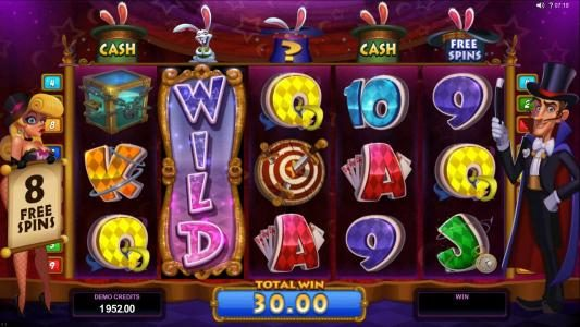 Captain Cooks featuring the Video Slots Rabbit in the Hat with a maximum payout of $10,000