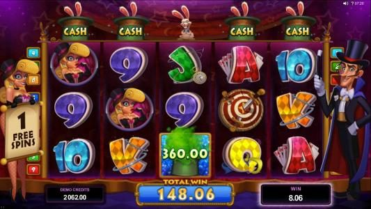 Play slots at Golden Reef: Golden Reef featuring the Video Slots Rabbit in the Hat with a maximum payout of $10,000