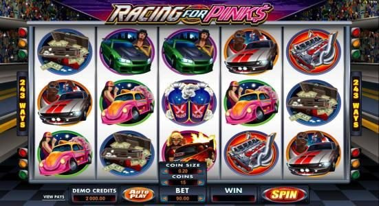 Play slots at Players Palace: Players Palace featuring the Video Slots Racing for Pinks with a maximum payout of $15,000