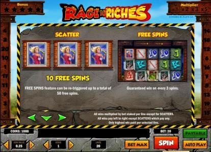 scatter and free spin rules