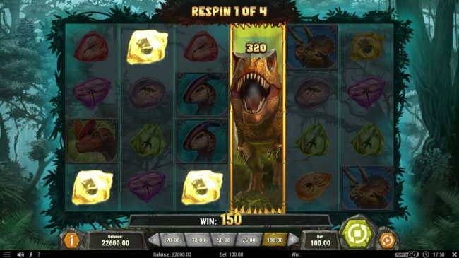 Mr Green featuring the Video Slots Raging Rex with a maximum payout of $500,000