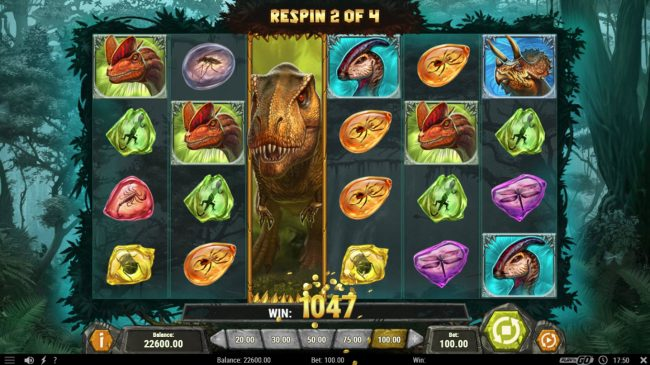 Unique Casino featuring the Video Slots Raging Rex with a maximum payout of $500,000
