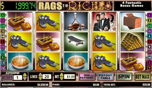 Play slots at TS: TS featuring the video-Slots Rags to Riches with a maximum payout of Jackpot