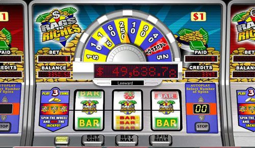 Jonny Jackpot featuring the video-Slots Rags to Riches 3-Reel with a maximum payout of Jackpot