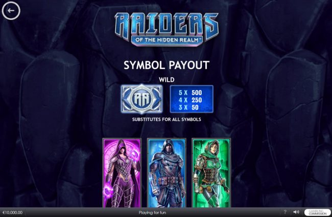 Play slots at Club 777: Club 777 featuring the Video Slots Raiders of the Hidden Realm with a maximum payout of $250,000