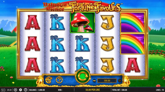 Secret Slots featuring the Video Slots Rainbow Riches Fortune Favours with a maximum payout of $250,000