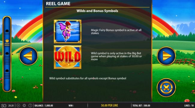 Slots Angel featuring the Video Slots Rainbow Riches Fortune Favours with a maximum payout of $250,000