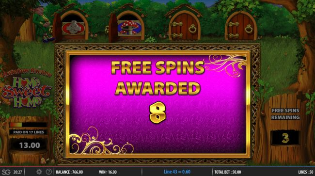 CasinoCasino featuring the Video Slots Rainbow Riches Home Sweet Home with a maximum payout of $250,000