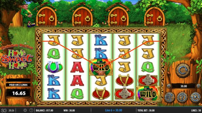 Slots Angel featuring the Video Slots Rainbow Riches Home Sweet Home with a maximum payout of $250,000
