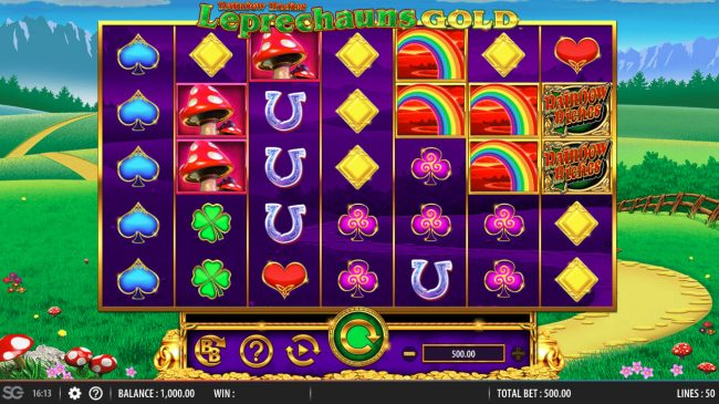 CasinoCasino featuring the Video Slots Rainbow Riches Leprechauns Gold with a maximum payout of $250,000