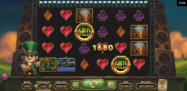 Casino Cruise featuring the Video Slots Rainbow Ryan with a maximum payout of $500,000