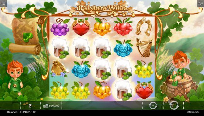 Rainbow Wilds :: Multiple winning paylines