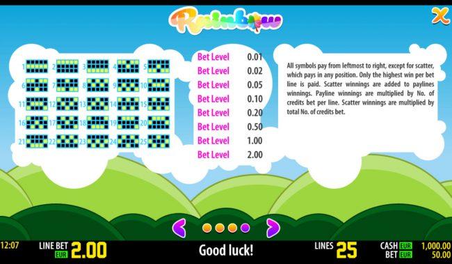 Rainbow :: Payline 1-25