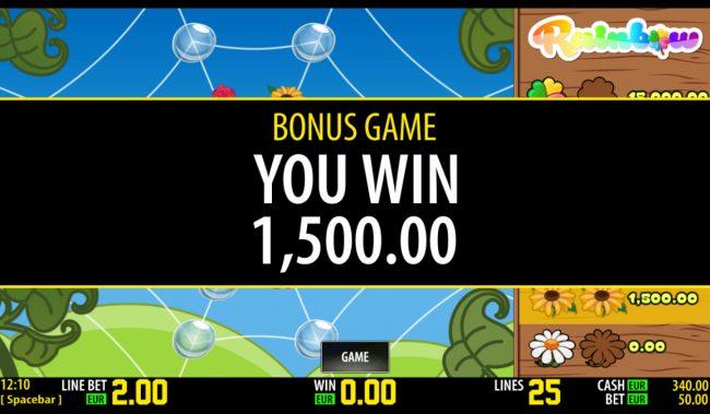 Rainbow :: Total bonus payout