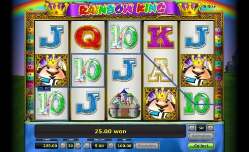 Company featuring the Video Slots Rainbow King with a maximum payout of $12,500