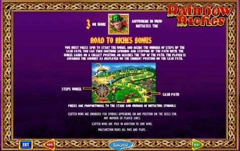 Wicked Jackpots featuring the Video Slots Rainbow Riches with a maximum payout of $10,000