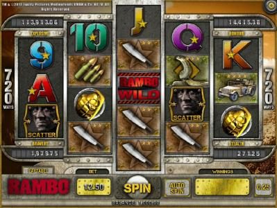 Play slots at Joe Fortune: Joe Fortune featuring the Video Slots Rambo with a maximum payout of Jackpot