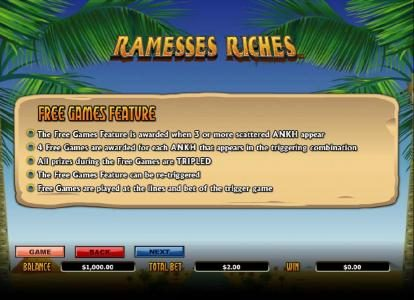 Kerching featuring the Video Slots Ramesses Riches with a maximum payout of $10,000