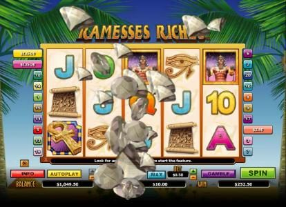 Play slots at All Irish: All Irish featuring the Video Slots Ramesses Riches with a maximum payout of $10,000