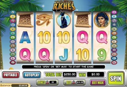 Lincoln featuring the Video Slots Ramesses Riches with a maximum payout of $50,000