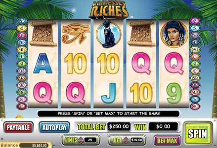 Red Stag featuring the Video Slots Ramesses Riches with a maximum payout of $50,000