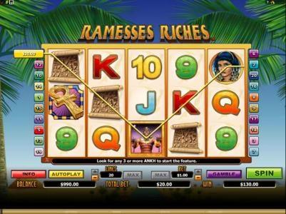 Play slots at Dasistcasino: Dasistcasino featuring the Video Slots Ramesses Riches with a maximum payout of $10,000