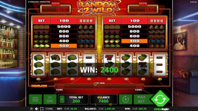 Slot Planet featuring the Video Slots Random 2 Wild with a maximum payout of $5,000