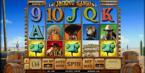 King Billy featuring the Video Slots Jackpot Rango with a maximum payout of Jackpot