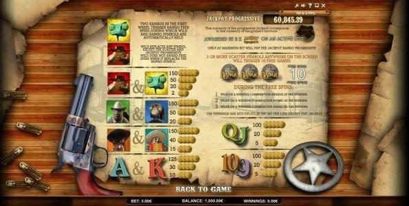 X-Bet featuring the Video Slots Jackpot Rango with a maximum payout of Jackpot