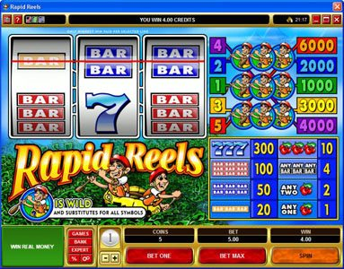 Play slots at VegasMobile: VegasMobile featuring the Video Slots Rapid Reels with a maximum payout of $30,000