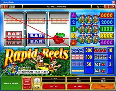 Vegas Country featuring the Video Slots Rapid Reels with a maximum payout of $30,000