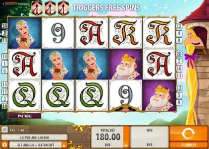 Play slots at Rizk: Rizk featuring the Video Slots Rapunzel's Tower with a maximum payout of $6,000