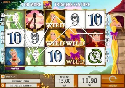 Amsterdam Casino featuring the Video Slots Rapunzel's Tower with a maximum payout of $6,000
