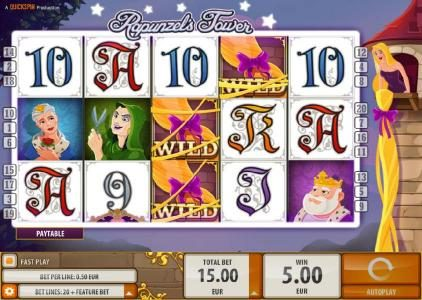 Guts featuring the Video Slots Rapunzel's Tower with a maximum payout of $6,000