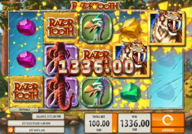 Amsterdam Casino featuring the Video Slots Razortooth with a maximum payout of $20,000