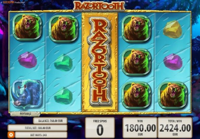 Wintingo featuring the Video Slots Razortooth with a maximum payout of $20,000