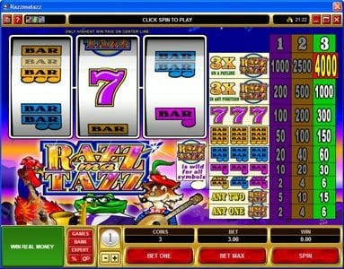 Play slots at Golden Tiger: Golden Tiger featuring the Video Slots Razzmatazz with a maximum payout of $20,000