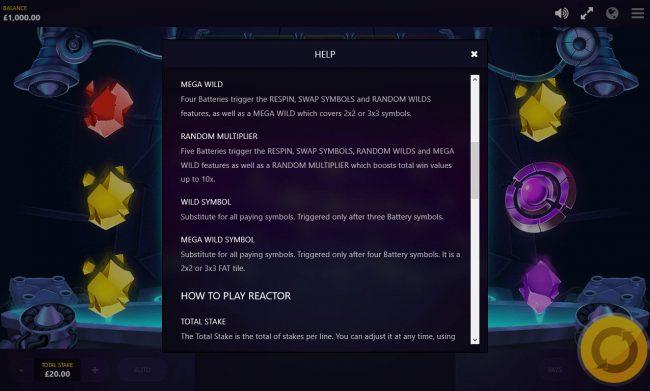 Reactor :: General Game Rules