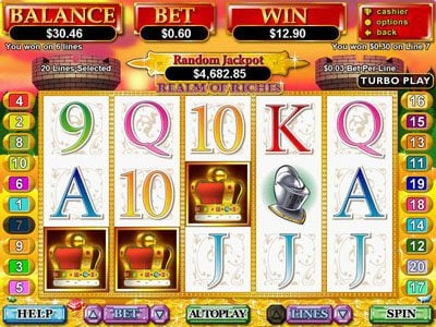 Mega 7's featuring the Video Slots Realm of Riches with a maximum payout of $250,000