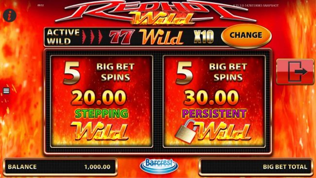 Norske Casino featuring the Video Slots Red Hot Wild with a maximum payout of $50,000