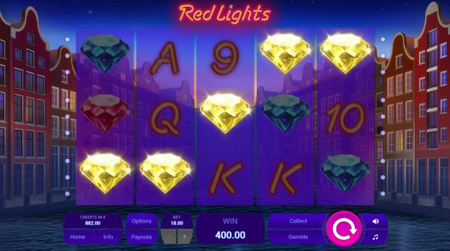 Royale24 featuring the Video Slots Red Lights with a maximum payout of $16,000